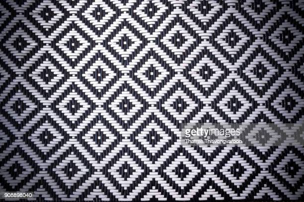 Seamless black and white weave texture