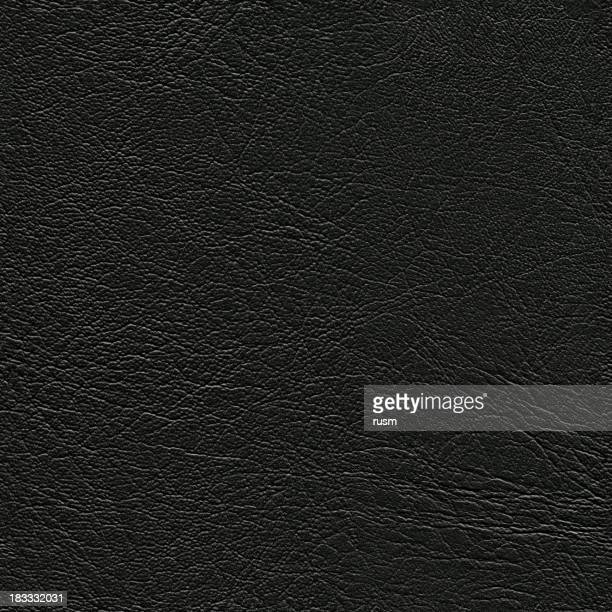 Seamless black leather background