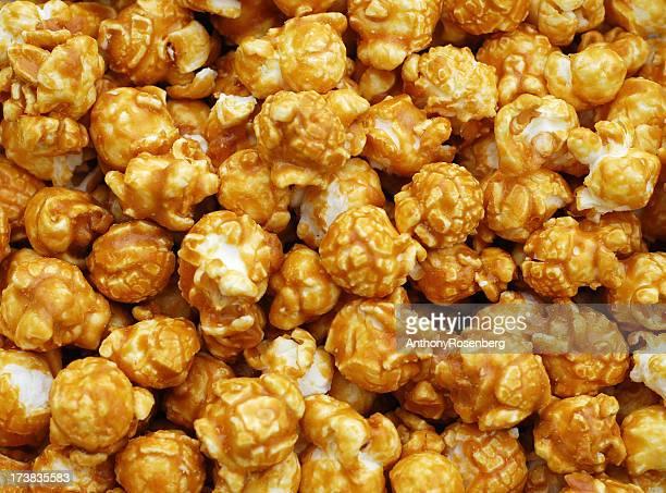 Seamless close-up of caramel popcorn