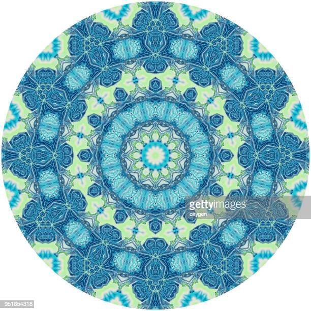 Seamless colorful mandala on white background