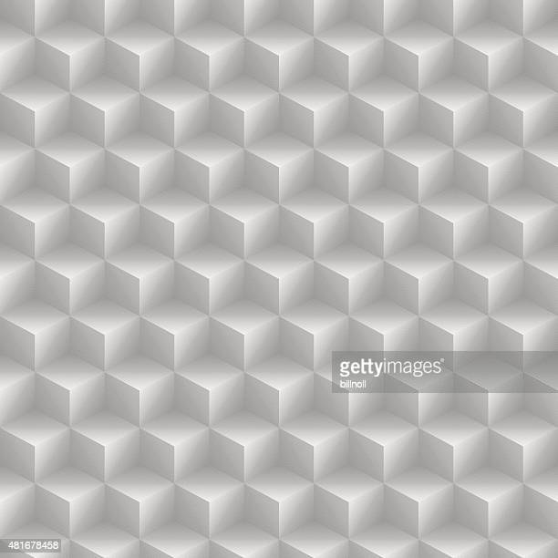 Seamless cube pattern on paper