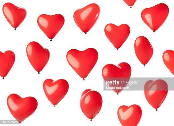 balões em forma de coração sem - tridimensional - fotografias e filmes do acervo