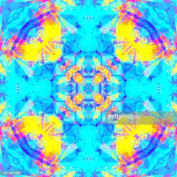 Seamless kaleidoscope mosaic pattern background