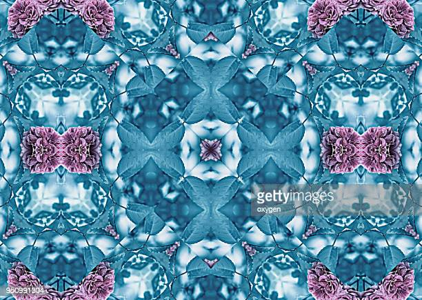Seamless kaleidoscopic mosaic pattern background