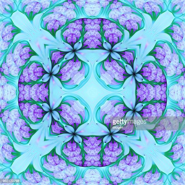 Seamless kaleidoscopic mosaic pattern background