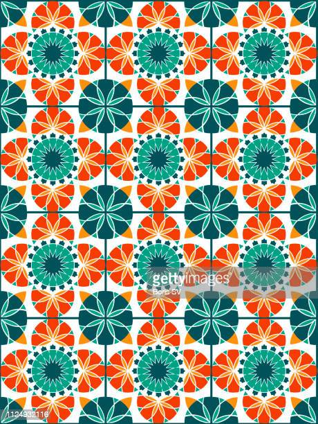 seamless pattern - african pattern stock photos and pictures