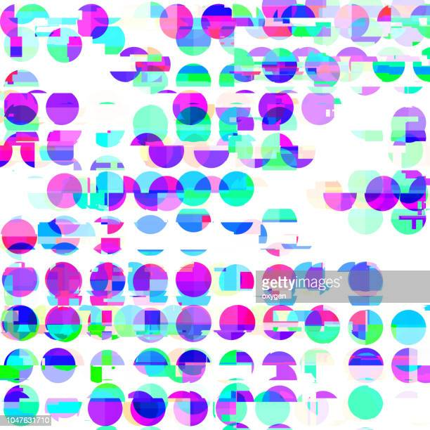 Seamless pattern with hand painted textured polka dots