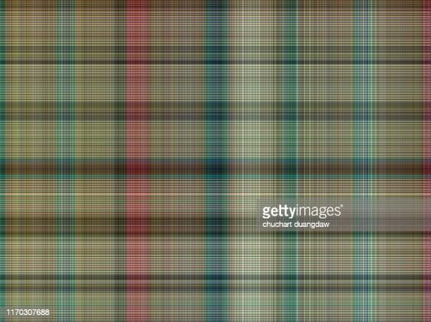 seamless plaid fabric loincloth with stripe color abstract background pattern texture - cultura escocesa imagens e fotografias de stock
