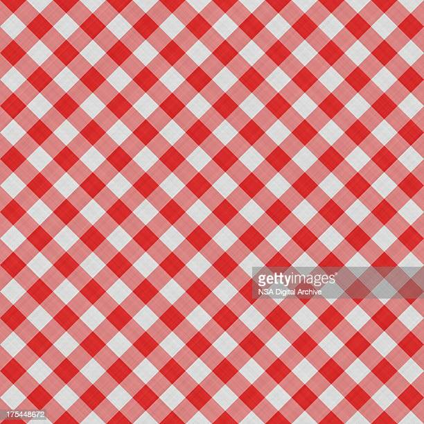 Seamless Squared Tablecloth Gingham Cotton Background | Fabric Wallpaper Pattern