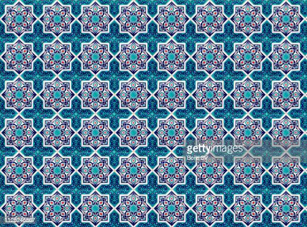 seamless tile pattern - mosaik stock-fotos und bilder