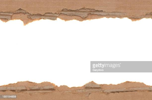 Seamless torn cardboard edges