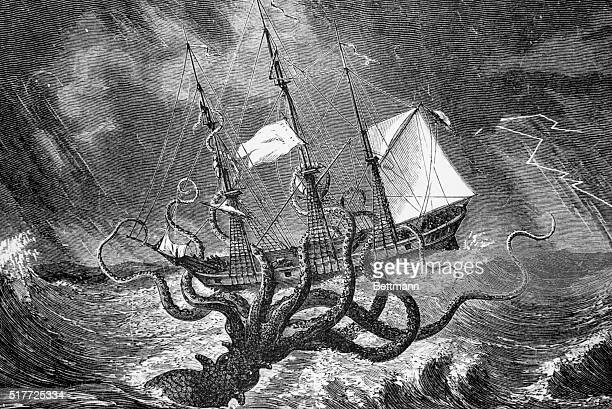 The Kraken as seen by the eye of imagination Undated illustration