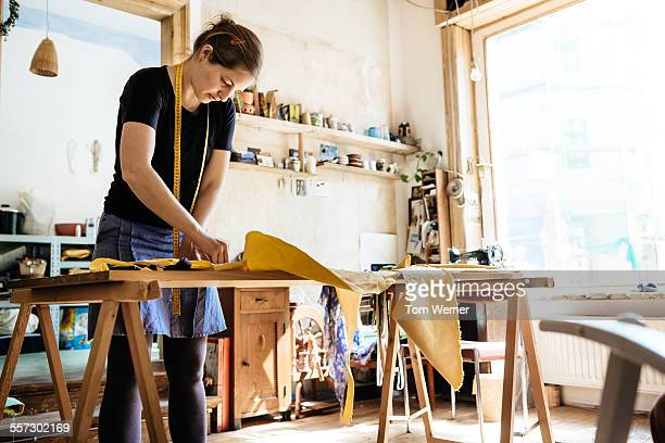 Seamstress Working In Her Workshop