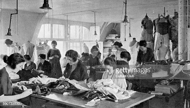Seamstresses in hautecouture atelier Paris Published in May 1923 Photograph by Ernest ClairGuyot