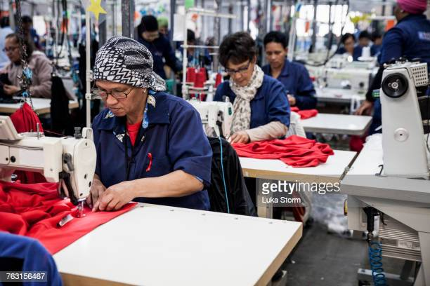 seamstresses working in factory, cape town, south africa - garment stock pictures, royalty-free photos & images