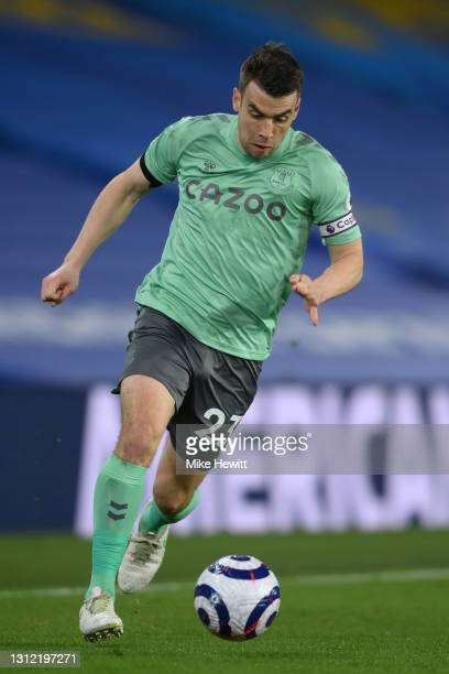 Seamus Coleman of Everton in action during the Premier League match between Brighton & Hove Albion and Everton at American Express Community Stadium...
