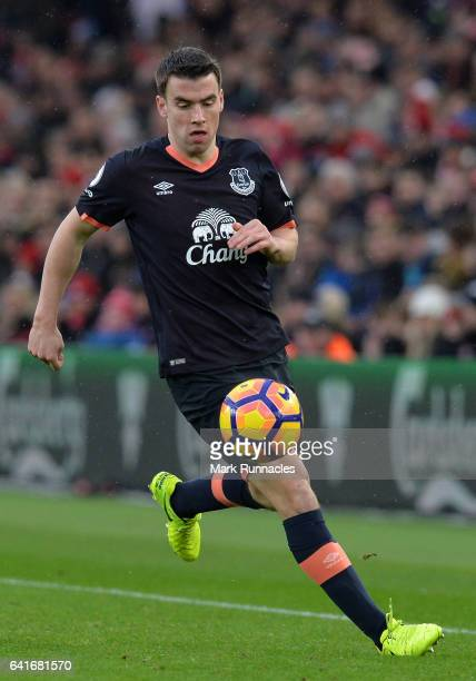 Seamus Coleman of Everton in action during the Premier League match between Middlesbrough and Everton at Riverside Stadium on February 11 2017 in...