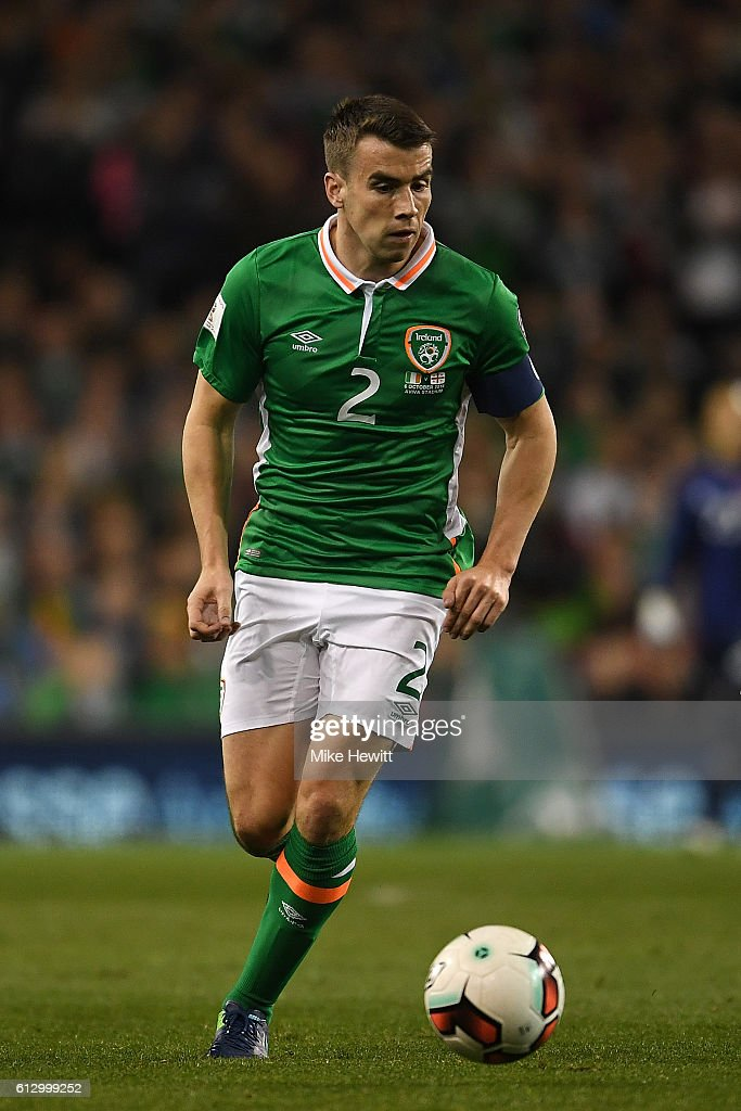 Seamus Coleman of Ireland in action during the FIFA 2018 World Cup Group D Qualifier between Republic of Ireland Georgia at the Aviva Stadium on October 6, 2016 in Dublin, Ireland.