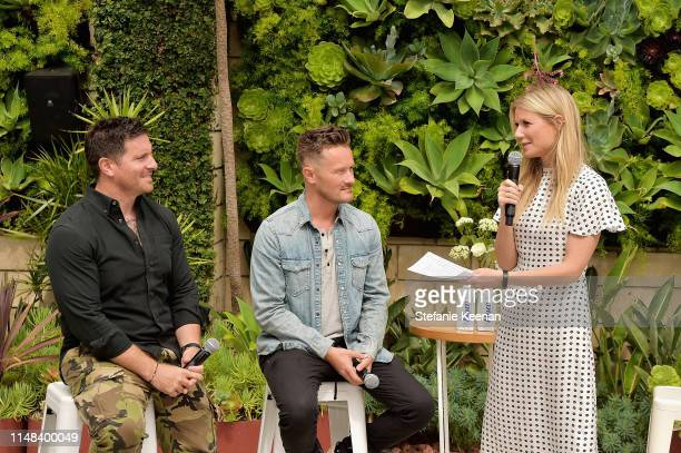 Seamus Mullen, Will Cole and Gwyneth Paltrow attend Gwyneth Paltrow hosts a Goop morning in celebration of first international campaign with Flow...