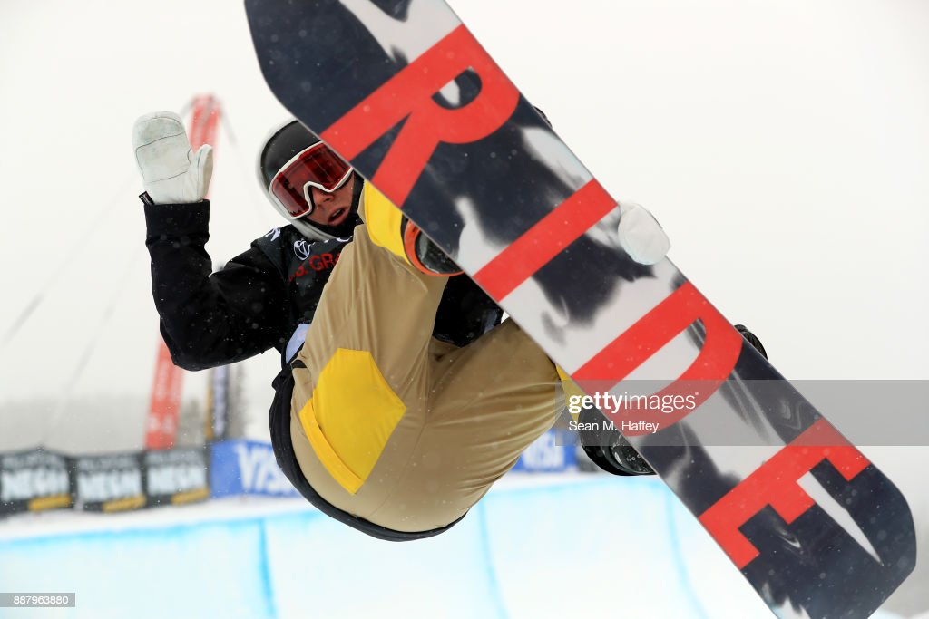 Seamus O'Connor of Ireland competes in a qualifying round of the FIS Snowboard World Cup 2018 Men's Snowboard Halfpipe during the Toyota U.S. Grand Prix on December 7, 2017 in Copper Mountain, Colorado.