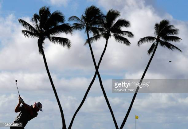 Seamus Power of Ireland plays a shot on the 16th hole during the first round of the Sony Open In Hawaii at Waialae Country Club on January 10 2019 in...