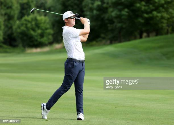 Seamus Power of Ireland plays his second shot on the 11th hole during the final round of the Barbasol Championship at Keene Trace Golf Club on July...