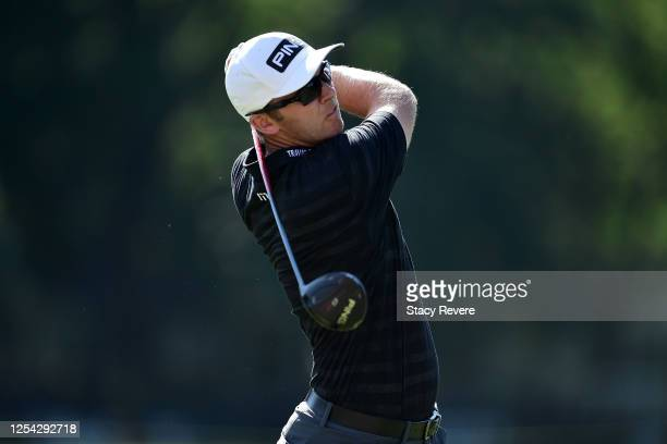 Seamus Power of Ireland plays his shot from the 18th tee during the third round of the Rocket Mortgage Classic on July 04, 2020 at the Detroit Golf...