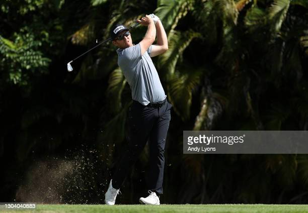 Seamus Power of Ireland plays his shot from the fourth tee during the first round of the Puerto Rico Open at Grand Reserve Country Club on February...