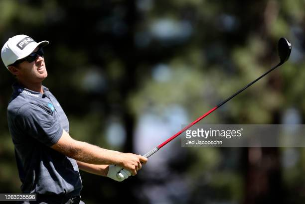 Seamus Power of Ireland plays his shot from the sixth tee during the third round of the Barracuda Championship at Tahoe Mountain Club's Old Greenwood...