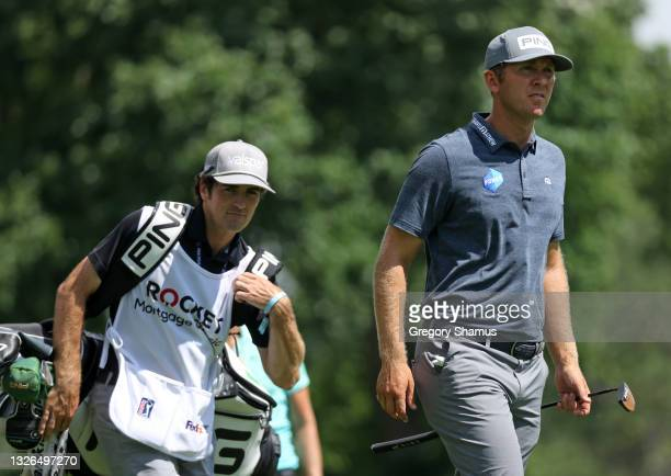 Seamus Power of Ireland walks from the ninth tee during the first round of the Rocket Mortgage Classic on July 01, 2021 at the Detroit Golf Club in...