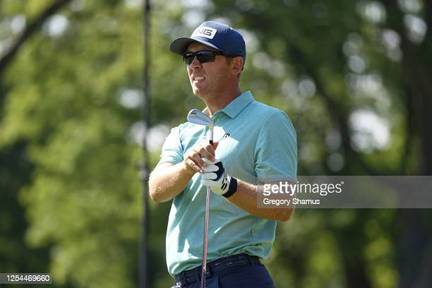 Seamus Power of Ireland watches his tee shot on the 15th hole during the final round of the Rocket Mortgage Classic on July 05 2020 at the Detroit...