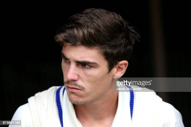 Sean Abbott of NSW takes to the field during day four of the Sheffield Shield match between New South Wales and Victoria at North Sydney Oval on...