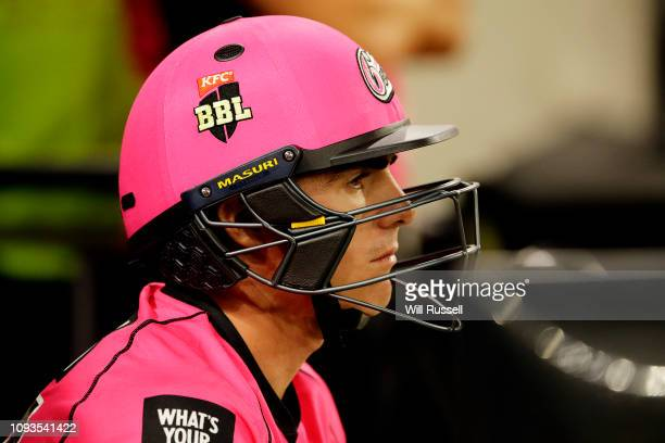 Sean Abbott of the Sixers waits to bat during the Big Bash League match between the Perth Scorchers and the Sydney Sixers at Optus Stadium on January...