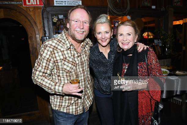 Sean Alquist Melissa Caufield and Juliet Mills celebrate the 60th Birthday of Maxwell Caufield at the Deer Lodge on November 23 2019 in Ojai...