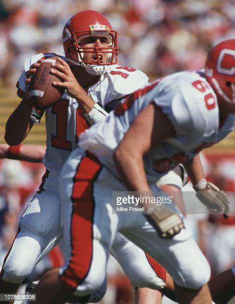 Sean Andreas, Quarterback for the Cornell University Big Red during the NCAA college football game on 10th October 1991 against the University of...