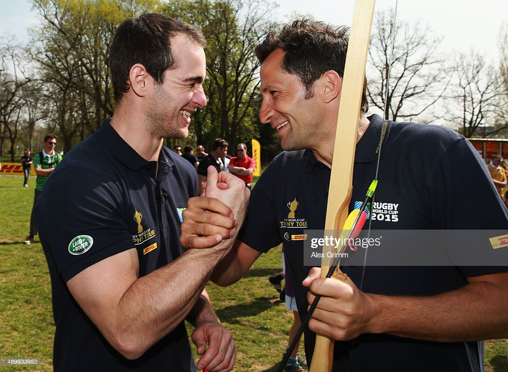 Rugby World Cup Trophy Tour - Germany : News Photo