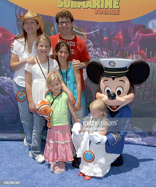 Sean Astin and family during Finding Nemo Submarine Voyage Opening Arrivals at Disneyland in Anaheim California United States