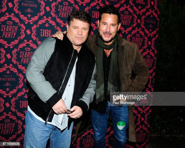 Sean Astin and Ricky Paull Goldin attend TBS hosts the Season 2 Premiere of 'Search Party' at Public Hotel on November 8 2017 in New York City