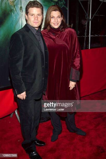 Sean Astin and wife Christine during The Lord of the Rings The Two Towers Premiere at Ziegfeld Theatre in New York New York United States