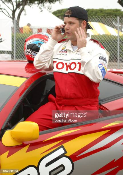 Sean Astin during 2004 Toyota Long Beach Grand Prix Pro/Celebrity Race Press Day at LB Grand Prix Pit Lane in Long Beach California United States