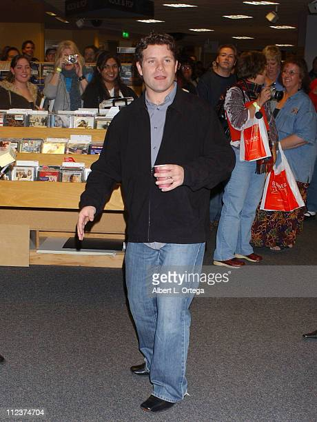 Sean Astin during Sean Astin Signs Copies of His Book 'There and Back Again An Actor's Tale' at Border's Bookstore in Westwood CA United States