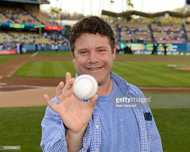 Sean Astin is seen at a game between the Los Angeles Dodger vs St Louis Cardinals at Dodger Stadium on September on September 15 2012 in Los Angeles...