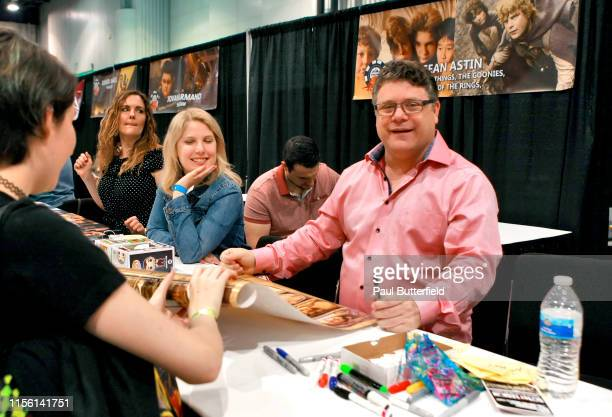 Sean Astin signs autographs during the Seventh Annual Amazing Las Vegas Comic Con at the Las Vegas Convention Center on June 15, 2019 in Las Vegas,...