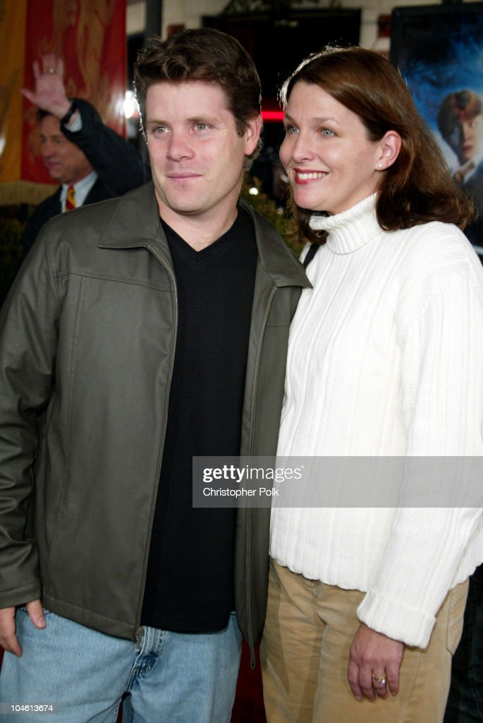 Sean Astin & Wife during 'Harry Potter and The Chamber of Secrets' Premiere at Mann Village Theatre in Westwwood, CA, United States.