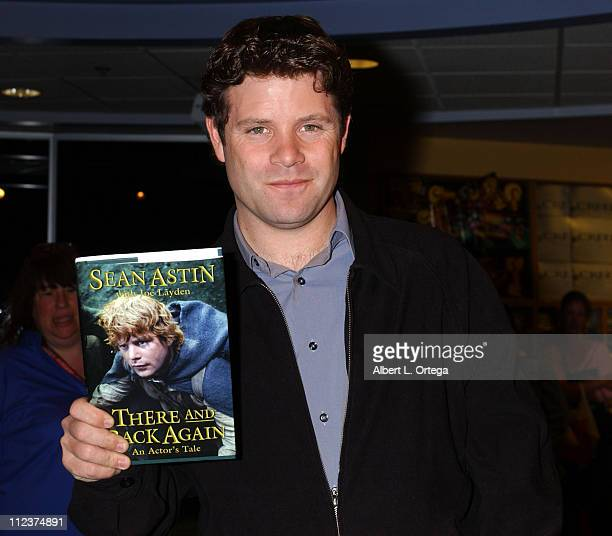 Sean Astin with his book 'There and Back Again An Actor's Tale'