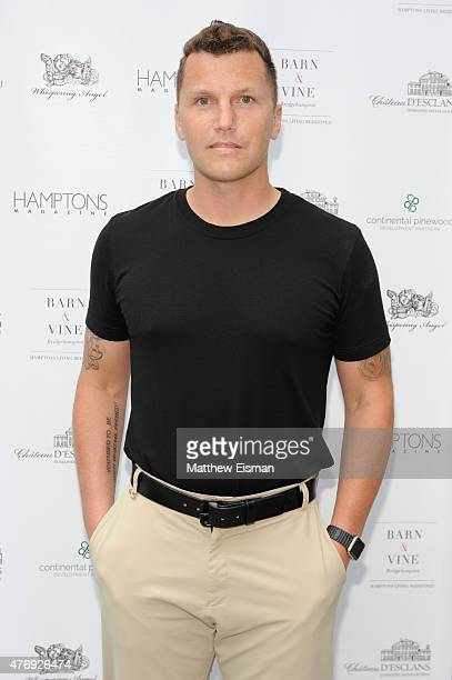 Sean Avery attends as Hamptons Magazine celebrates cover stars Sean Avery and Hilary Rhoda at Barn Vine on June 12 2015 in Bridgehampton New York