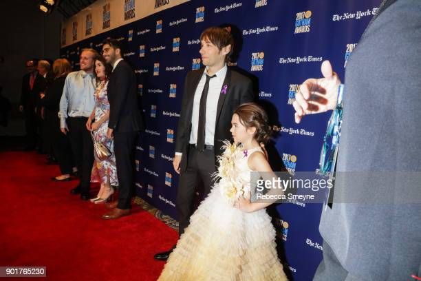 Sean Baker and Brooklynn Prince on the red carpet at the 2017 IFP Gotham Awards at Cipriani Wall Street on November 27 2017 in New York NY