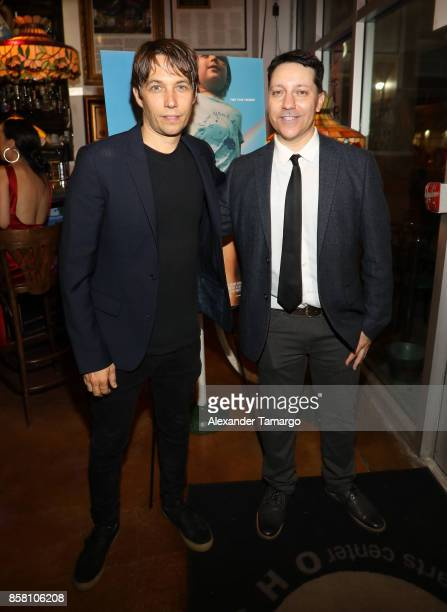 Sean Baker and Chris Bergoch are seen at CubaOcho during 'THE FLORIDA PROJECT' Miami Premiere after party on October 5 2017 in Miami Florida