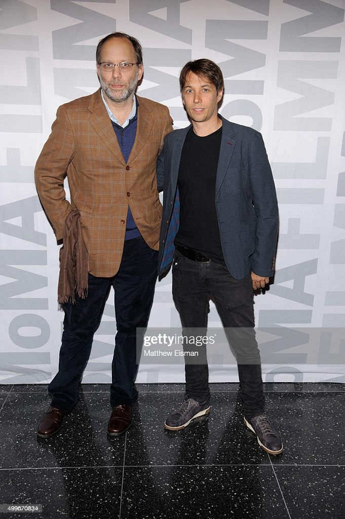 Sean Baker (R) and Ira Sachs attend the 'Tangerine' New York screening at MoMA Titus One on December 2, 2015 in New York City.