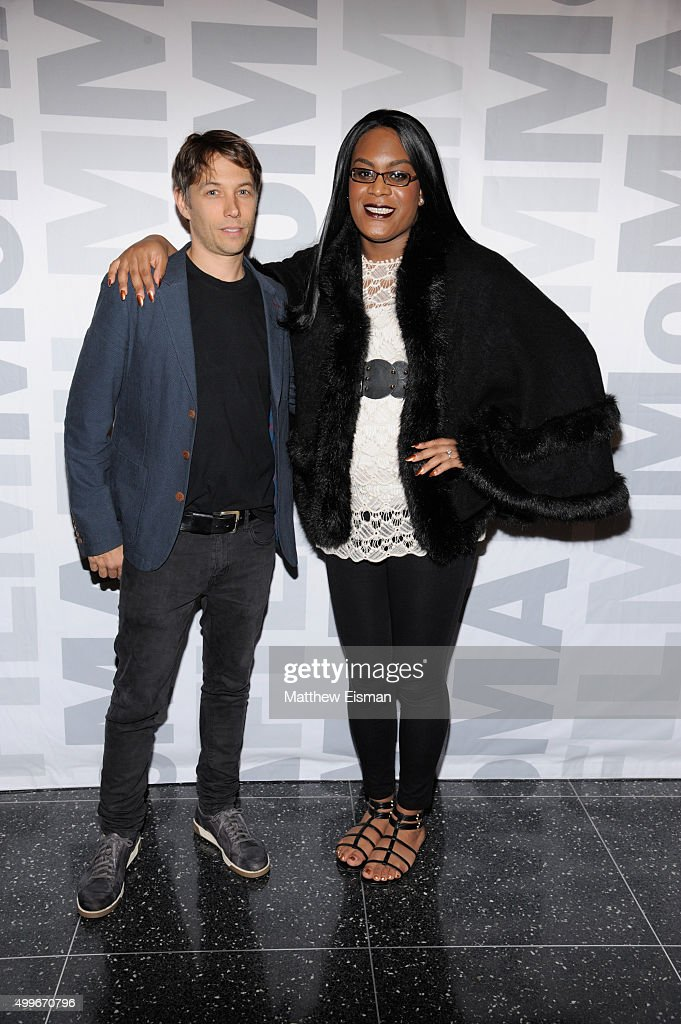 Sean Baker (L) and Mya Taylor attend the 'Tangerine' New York screening at MoMA Titus One on December 2, 2015 in New York City.